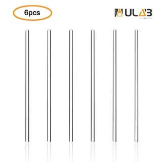 ULAB Scientific Glass Stirring Rods, Length 300mm, Dia.5mm, Glass Material, Pack of 6, UMP1002